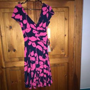 Maggie London Faux Wrap Dress